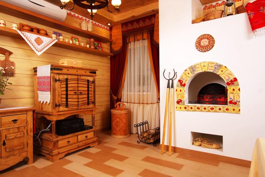 Как украсить печь в доме своими руками в деревянном доме 93
