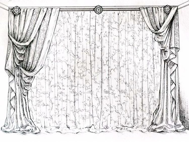 Рисунок для штор фото